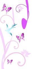 fond floral printannier
