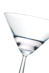 Close up of a cocktail over a white background,