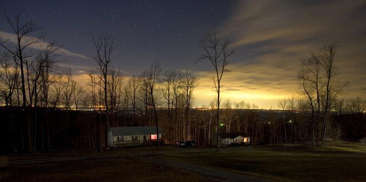 neighborhood in the fall overlooking Winchester Virginia