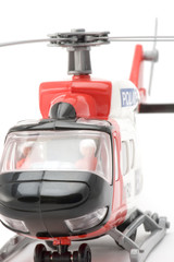 object on white - toy model helicopter