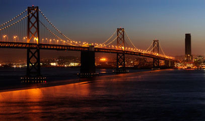 A high-resolution stitched image of Bay Bridge