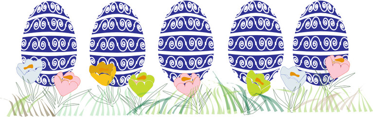 easter eggs, vector