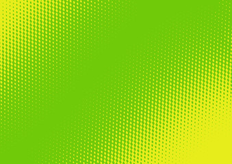 Background - a green background with abstract yellow figure