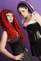 two gothic girls