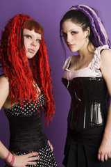 two gothica girls