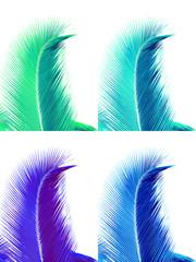 des palmes bleues