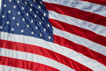 Close-up view of a new U.S. flag.