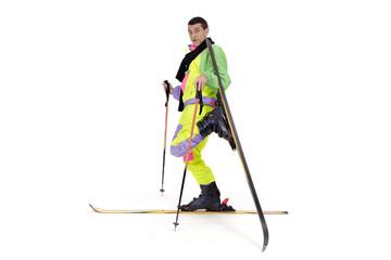 Skieur danseuse et figure