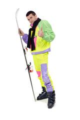 Skieur  debout en monoski