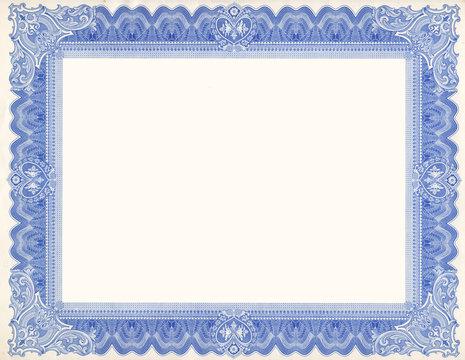 Old Certificate Border