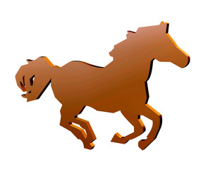 Horse sign for racing and equestrian events