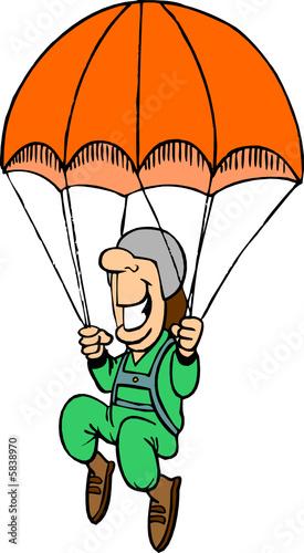 Parachute fichier vectoriel libre de droits sur la - Dessin parachutiste ...