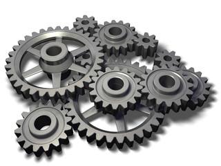 isolated metal cogwheels mechanism