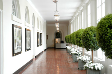Sourth Corridor of the White House, Washington DC