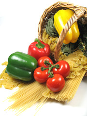 pasta and basket
