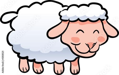 """""""cute Lamb Sheep Vector Illustration"""" Imágenes De Archivo"""