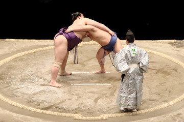 Photo sur Plexiglas Japon Sumo fight