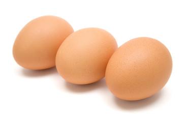 Three Brown Eggs