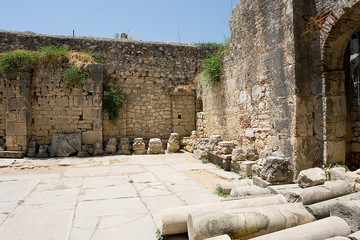 Ruins of Saint Klaus church in Myra village, Turkey.