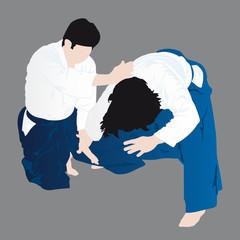 technique d'aikido - kaiten nage