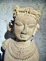 Divinité asiatique, statue antique