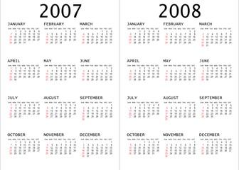 2007 - 2008 calendar