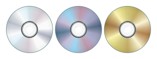 three compact disc