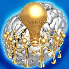3D Group Idea Concept