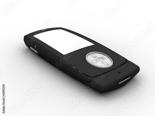 telephone mobile coulissant 3d cot gauche femer noir photo libre de droits sur la banque d. Black Bedroom Furniture Sets. Home Design Ideas