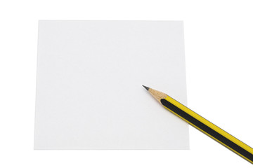 Pencil and Paper, Isolated on White