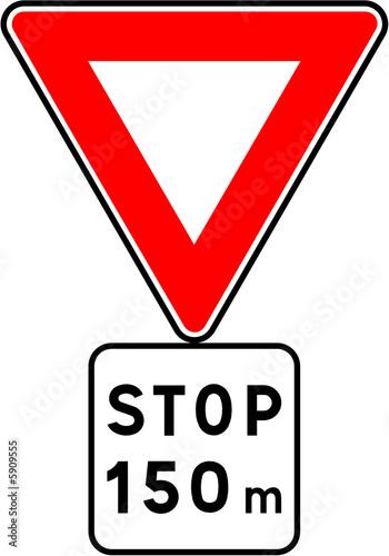 panneau stop photo libre de droits sur la banque d 39 images image 5909555. Black Bedroom Furniture Sets. Home Design Ideas