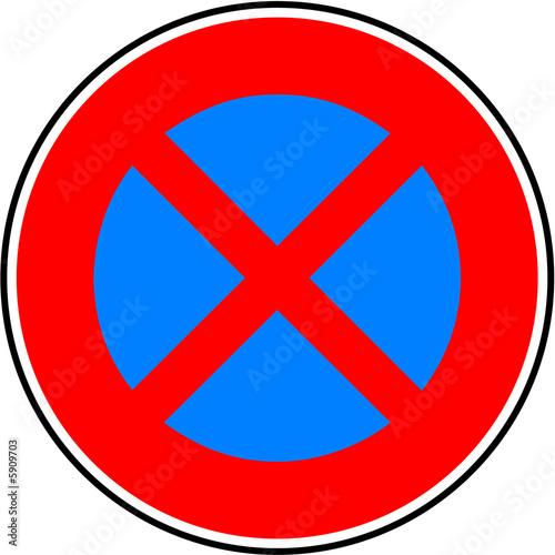 panneau stationnement et arret interdit photo libre de droits sur la banque d 39 images fotolia. Black Bedroom Furniture Sets. Home Design Ideas