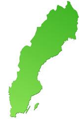 Carte de Suède verte