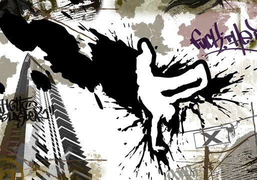 Flyer Breakdance Urban Art Wallpaper