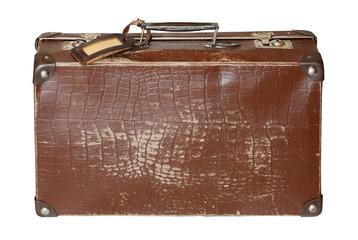 Old brown cardboard suitcase