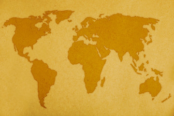 old page background with world map.