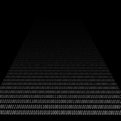 draught of data on black background