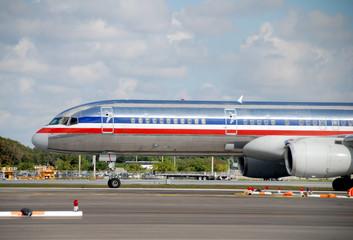 Passenger jet front