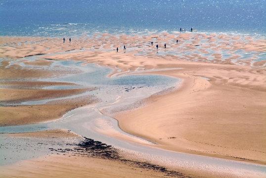 The beach at carteret, the cotentin peninsula