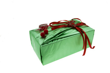 gift in green wrapper