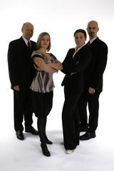 four headed business team
