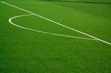 Aluminium Prints Green Soccer/Football field