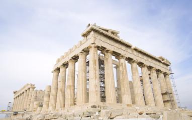 The Parthenon at the Acropolis of Athens in Athens, Greece.