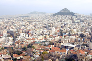 View of Athens, Greece cityscape.