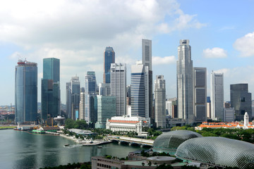 Keuken foto achterwand Singapore Skyline of Singapore business district, Singapore