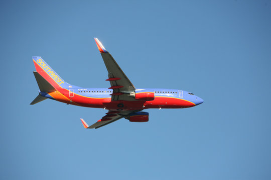 Southwest airlines 737 taking off