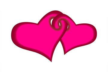 Beautiful coupled hearts
