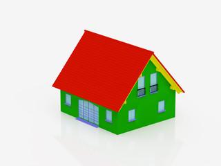 multi-coloured house