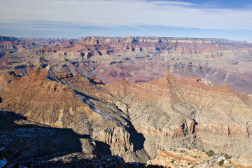 Grand Canyon in Winter as seen from Desert View Point, Arizona