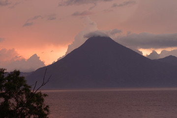 Volcano on Lake Atitlan, Guatemala